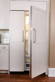fridge that looks like cabinets a bright white kitchen redesigned online refrigerator kitchens