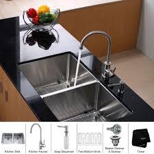 Triple Bowl Kitchen Sinks by Stainless Steel Kitchen Sink Combination Kraususa Com