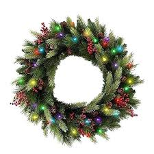 cordless lighted wreaths battery operated outdoor