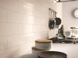 indoor white paste wall tiles brick glossy by ragno