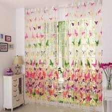 beautiful purple butterfly curtains decorating with country style