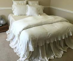 Diy King Duvet Cover Waterfall Ruffle Duvet Cover Diy Cream Ruffle Duvet Cover Queen