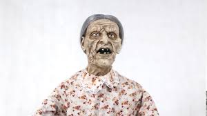 Life Size Posable Skeleton Halloween Granny Bates Halloween Prop Lifesize 5 Feet Poseable Haunted House