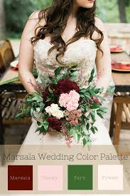 fall wedding color palette marsala fall wedding color palette