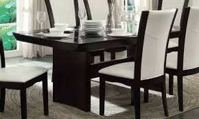 homelegance daisy dining table with glass insert espresso 710