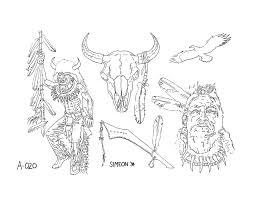 red indians tattoos art tattoos art