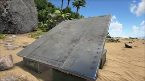 sloped metal roof official ark survival evolved wiki