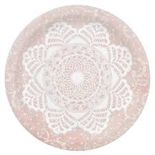 Shabby Chic Plates by Vintage Pink Lace Plates Zazzle