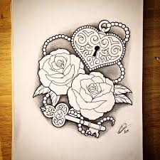 31 best heart shaped rose tattoo images on pinterest drawings