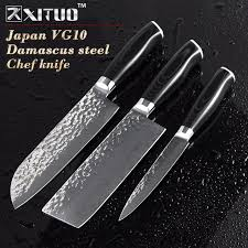 handmade japanese kitchen knives xituo 5 6 7 inch damascus kitchen knife set 3 pcs handmade forged