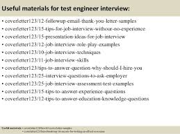 performance test engineer cover letter performance test engineer