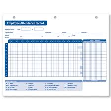 employee attendance record personnel attendance records