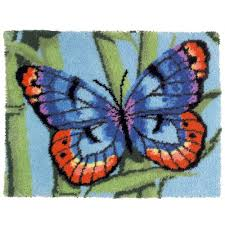 Latch Hook Rugs Mary Maxim Brilliant Butterfly Latch Hook Rug Kit