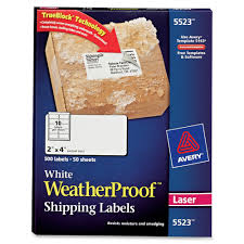 2 X 4 Label Template 10 Per Sheet Avery 5523 Weatherproof Durable Laser Labels Permanent Adhesive
