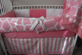 Giraffe Bedding Set Pink And White Giraffe Baby Bedding Crib Set Deposit