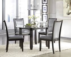Modern Dining Room Set Cosy Coralayne Silver Rectangular Extendable Dining Room Set With