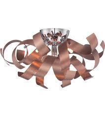 copper flush mount light quoizel rbn1616sg ribbons 4 light 17 inch satin copper flush mount