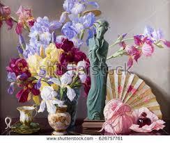 Vase With Irises Japanese Irises Stock Images Royalty Free Images U0026 Vectors