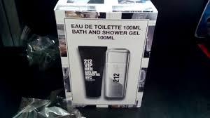 212 vip men carolina herrera and bath and shower gel unboxing