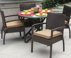 folding patio dining table 39 round outdoor dining table set darlee santa monica 7 piece cast