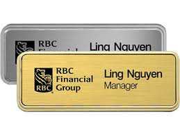 gold name tag name badges custom name tags in bc heritage house