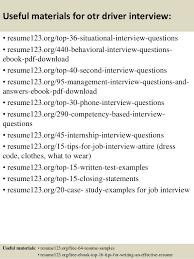 Driver Resume Samples by Top 8 Otr Driver Resume Samples