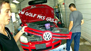 vw golf mk5 grill removal and replacement front grille 2005 2006