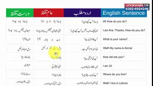 common english sentences with urdu translation set 1 video