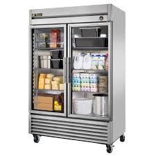 glass door commercial refrigerator true manufacturing 47 ógé n two door reach in commercial