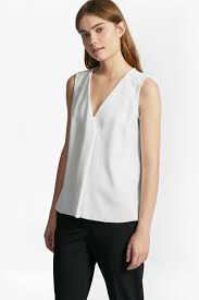 white sleeveless blouse arrow crepe sleeveless blouse collections connection