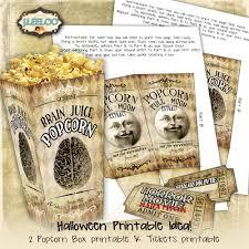 popcorn boxes digital collage sheet halloween horror movie