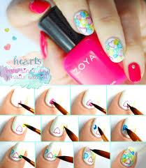 valentine u0027s day nails watercolor hearts seasonails