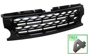 land rover lr3 black full gloss black disco 4 style grille conversion for land rover