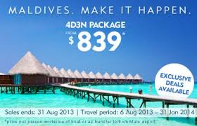 package deals 4d3n package from 839 in maldives with
