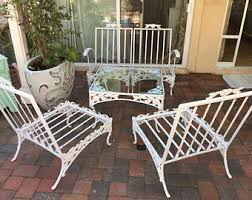 Woodard Wrought Iron Patio Furniture Vintage 50s Patio Furniture Etsy