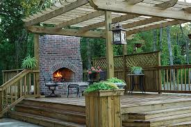deck fireplace pictures deck design and ideas deck fireplace