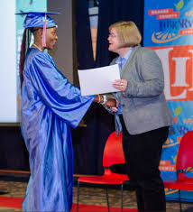 can you finish high school online orange county library holds graduation ceremony for career