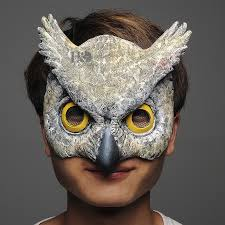 owl mask h d 7inch half owl masks for adults masquerade