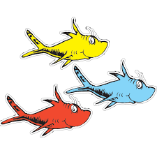seuss fish fish coloring pages
