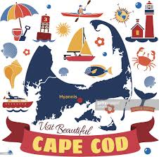 cape cod map with icons vector art getty images