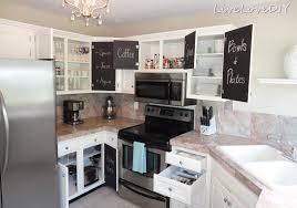 diy kitchen cabinet decorating ideas livelovediy the chalkboard paint kitchen cabinet makeover kitchen