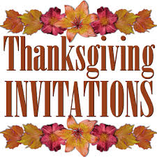free printable thanksgiving invitations templates hubpages