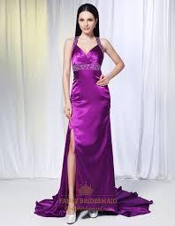 violet dress violet purple prom dresses evening dresses with side split