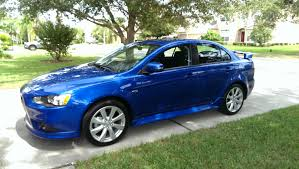 blue mitsubishi lancer just joined the mitsubishi family 2015 lancer gt mitsubishi