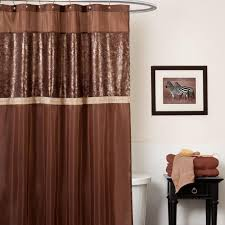 Chocolate Brown Shower Curtain Soho Blue And Brown Shower Curtain U2014 Interior Exterior Homie