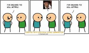 i ve decided to kill myself created with explosm comic generator