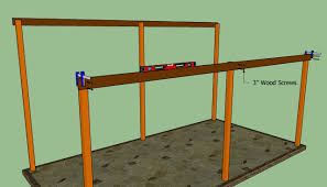 wood attached lean to carport plans pdf plans