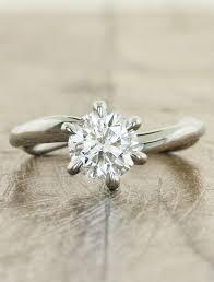 6 prong engagement ring 6 prongs sculptural engagement ring ken design