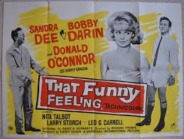 Bobby Darin And Sandra Dee That Funny Feeling Original Uk Quad Film Poster Sandra Dee Bobby