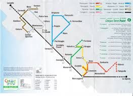 Italy Train Map by Guide To Cinque Terre Italy Dailyhotel
